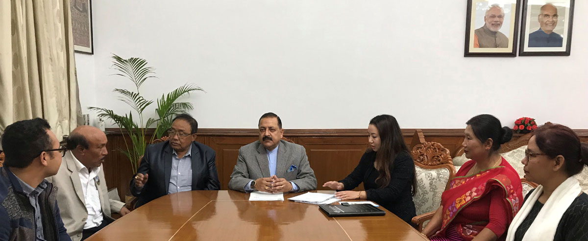 Union Minister Dr Jitendra Singh with a delegation of