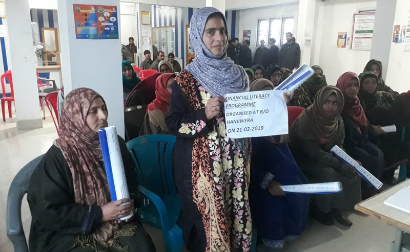 Participants during Financial Literacy Awareness Programme organised by J&K Grameen Bank.