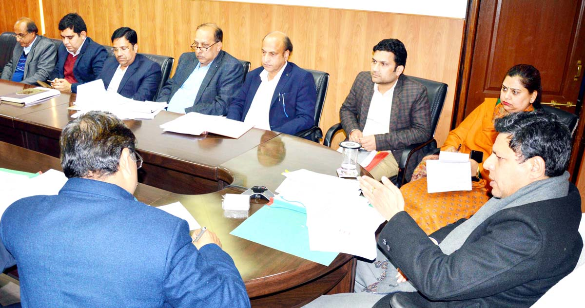 Divisional Commissioner Sanjeev Verma chairing a meeting on Friday.