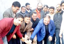MLC Vibodh Gupta kick-starting construction work of Sanitary Complex at District Court Complex, Rajouri.