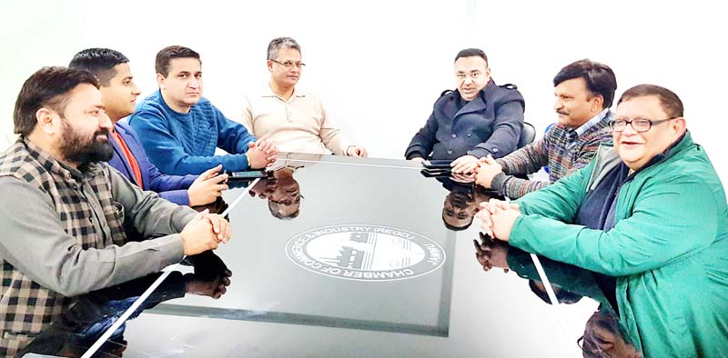 JCCI and KCCI members at joint meeting in Jammu on Monday.
