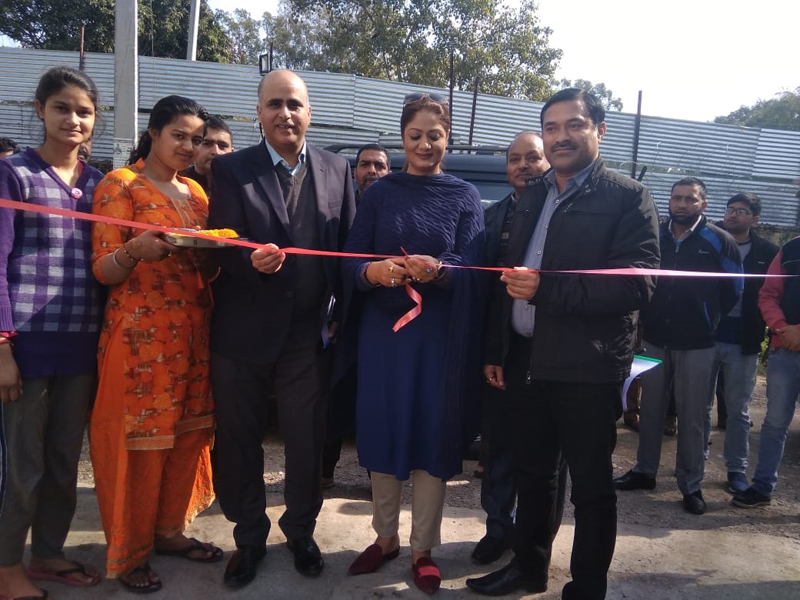 Dr Hina Shafi Bhat inaugurating two newly established units in Jammu.