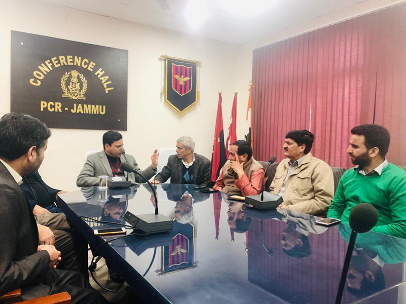 Divisional Commissioner Jammu, Sanjeev Verma, interacting with PDP delegation in Jammu.