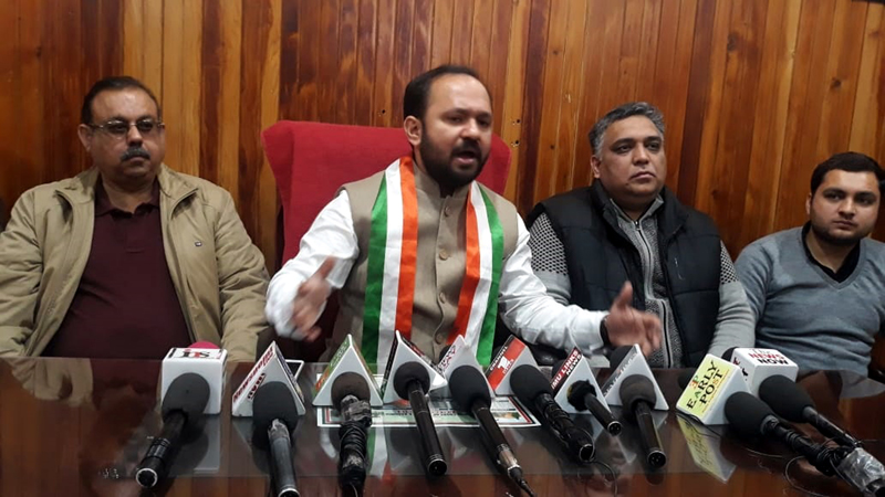 Ankur Sharma addressing a press conference at Jammu on Wednesday.