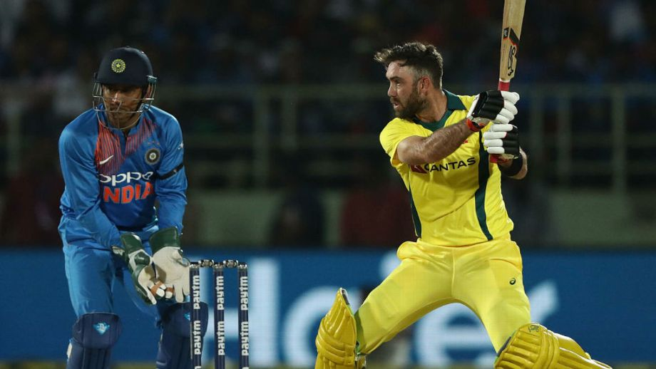 Glenn Maxwell executing a shot during his knock of 113 runs against India in T20 I at Bengaluru on Wednesday.