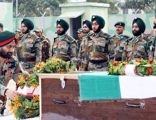Tributes being paid to Army officer martyred near LoC.