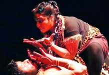 A scene from the play 'Macbeth: The Crown of Blood' staged at Chandigarh on Sunday.
