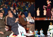 Governor Satya Pal Malik at Annual Day function of All Ladakh Students Welfare Association in Jammu on Wednesday.