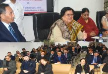 Chief Justice Gita Mittal addressing a training programme in Jammu on Saturday.