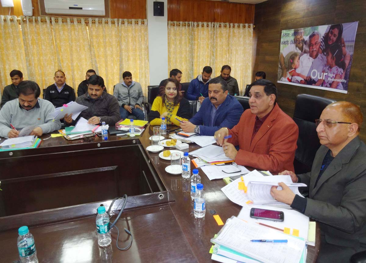 Mayor Chander Mohan Gupta chairing Finance and Planning Standing Committee meeting on Saturday.