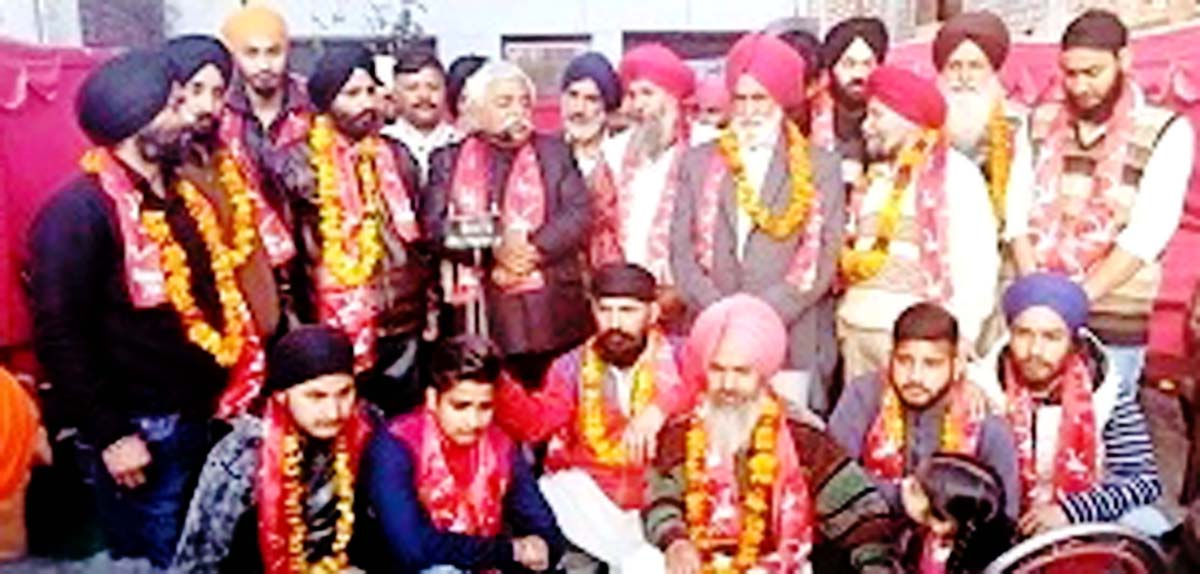 Senior NC leader Ajay Sadhotra during a function in Marh constituency on Sunday.