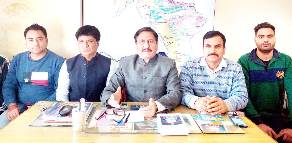 PK leaders during Executive Council meeting at Jammu on Sunday.