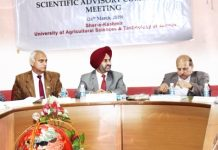 VC SKUAST chairing Scientific Advisory Committee meeting of KVK Samba on Tuesday.