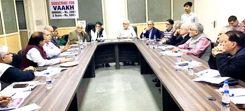 AIKS representatives at a conclave at Delhi on Sunday.