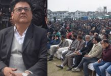 Shah Faesal, former IAS officer at launch of JK Peoples Movement on Sunday.