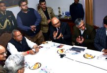Governor S P Malik launching online services at Raj Bhawan in Jammu on Saturday.