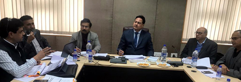 Commissioner Secretary PDD Hirdesh Kumar chairing a meeting on Thursday.
