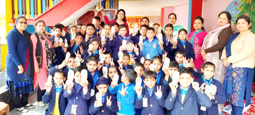 Students of Paramount Convent School posing for a photograph during Sports Day on Thursday.