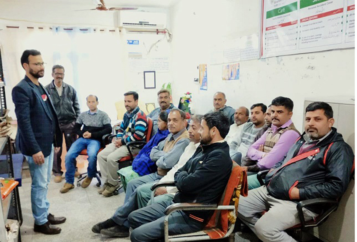 Representatives of J&K Grameen Bank during village level programmes.