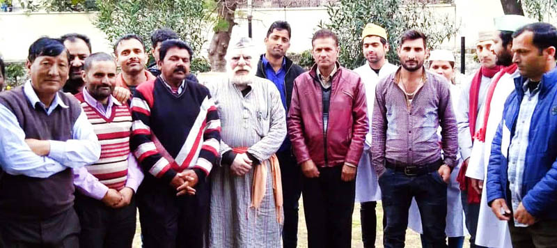 A scene from the Nukad Play 'Apni Soch Badley' staged at Jammu on Monday.