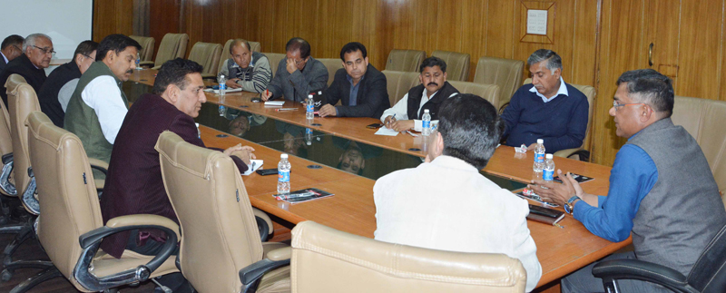 Chief Electoral Officer, Shailendra Kumar chairing a meeting in Jammu on Wednesday.