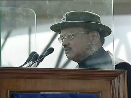 NSA Ajit Doval addressing CRPF's 80th Raising Day in Gurgaon on Tuesday.