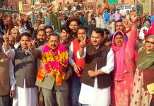 Union Minister Dr Jitendra Singh conducting Panchayat-level campaign in Ramnagar Assembly segment, on Monday.