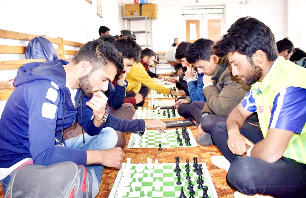 Players busy in making moves during Chess Festival in Valley.