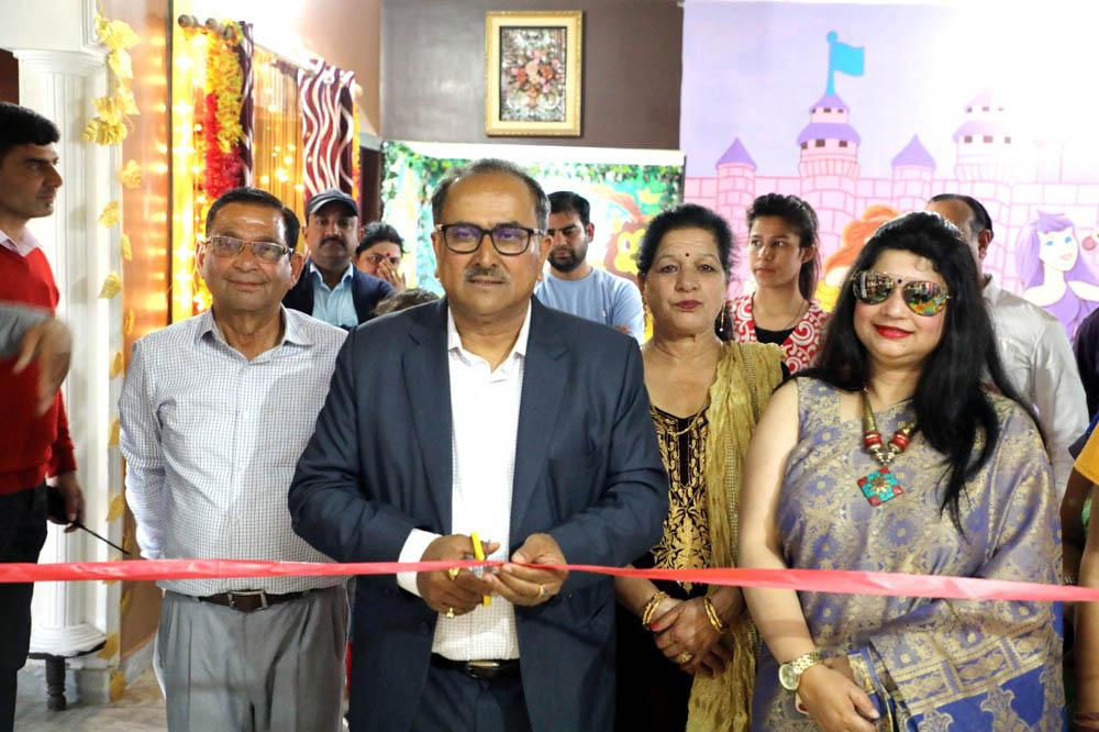 Speaker Legislative Assembly, Dr Nirmal Singh inaugurating Canadian International Pre School in Jammu.