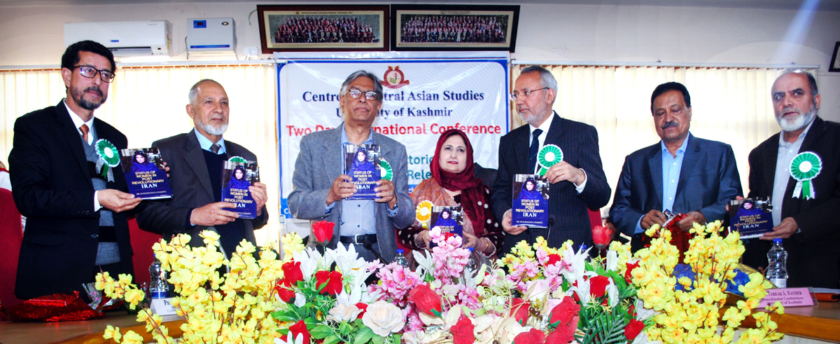 Guests at inaugural of international conference on Silk-Route at KU on Monday.
