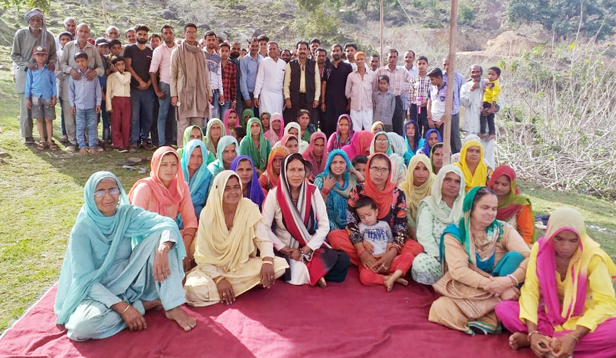 DCC president Kathua, Dr Manohar Lal during election campaign in Bhaddu.