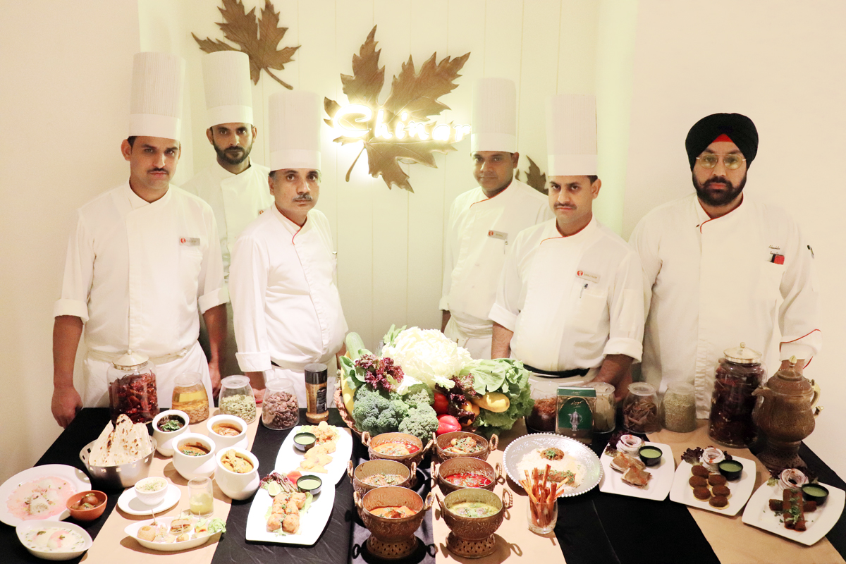 Chefs showcasing cuisines to be served during Food Festival 'Flavors of the land'.