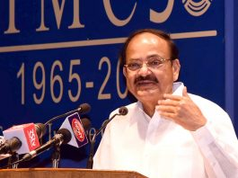 """Vice President, M. Venkaiah Naidu delivering first 'Atal Bihari Vajpayee Memorial Lecture' on the """"Role of media in moulding enlightened electorate"""", organised by the Indian Institute of Mass Communication, in New Delhi on Wednesday."""