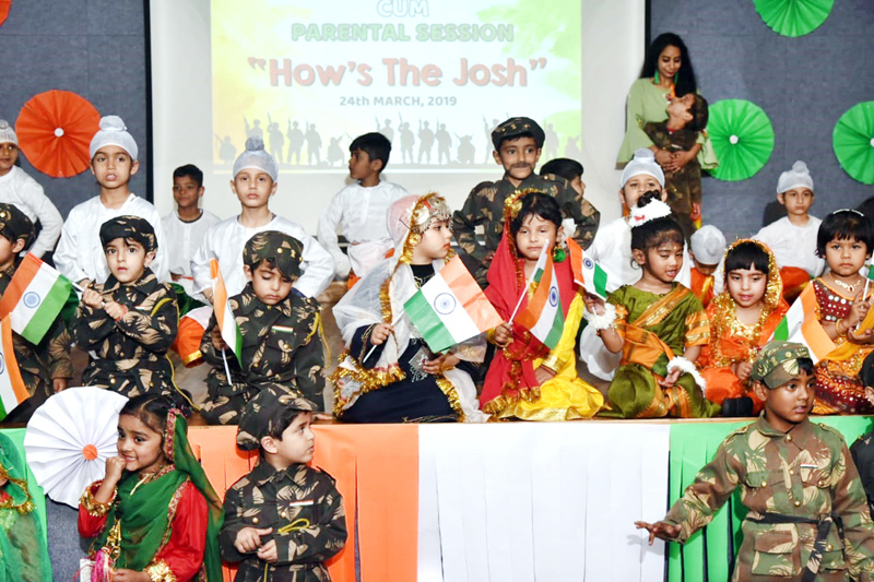 Students in colourful attires during Annual Day celebration at Mother's Pride & Joy Pre-Primary school.