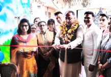 BJP Corporator, Pawan Singh inaugurating 3rd branch of Madhuvan Kids Playway in Jammu.