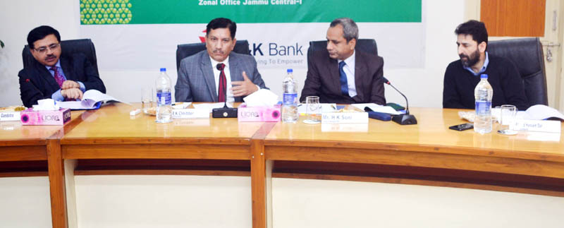 J&K Bank officials during SLBC's 10th Sub Committee meet at Jammu.