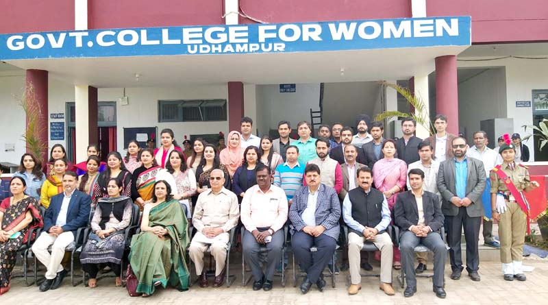 NAAC Peer Team with faculty members and staff of GCW Udhampur.