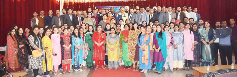 GDC Kathua faculty members with NAAC Peer team during College visit.
