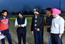DC Kapurthala, DPS Kharbanda along with other dignitaries during toss time.