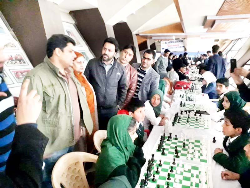 Chess Festival being inaugurated in Srinagar.