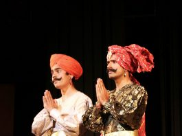 A scene from Dogri play Kali Veer staged by Samooh Theater at Abhinav Theater on Tuesday. -Excelsior/Rakesh