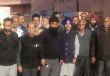 Members of JKSAC at a meeting in R S Pura on Friday.
