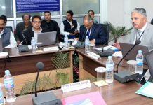 VC Prof Ashok Aima chairing Academic Council meeting of CUJ.