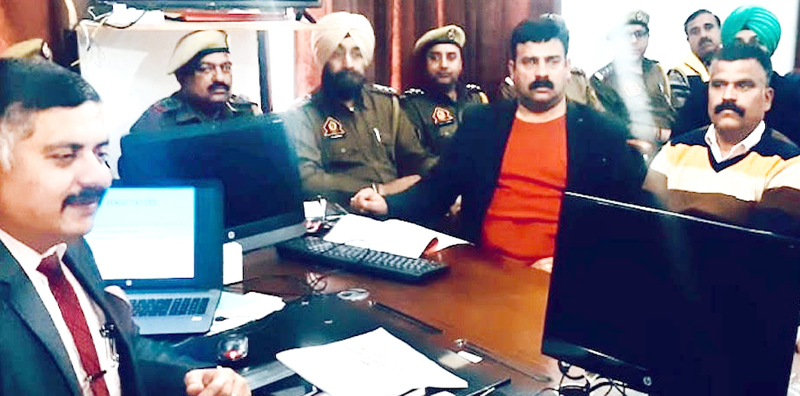 Special Secretary, Transport Depart-ment, Amit Sharma chairing meeting of officers at RTO office Jammu.