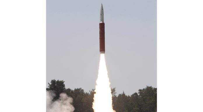 Successful Ballistic Missile Defence (BMD) Interceptor missile launch by Defence Research and Development Organisation (DRDO) in an Anti-Satellite (A-SAT) missile test 'Mission Shakti' engaging an Indian orbiting target satellite in Low Earth Orbit (LEO) in a 'Hit to Kill' mode from the Dr A P J Abdul Kalam Island in Odisha on Wednesday. (UNI)