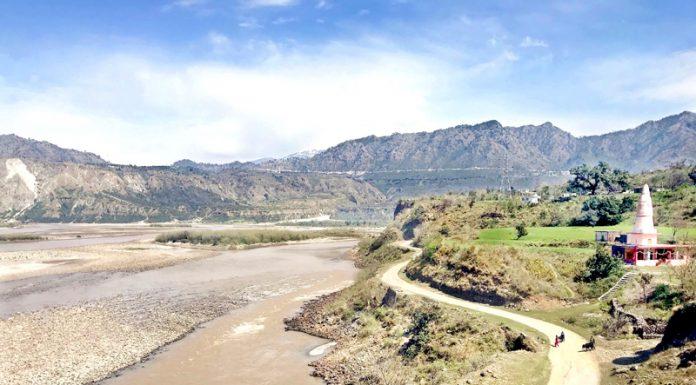 Panoramic view of river Chenab at Bharadhari village near Reasi. -Excelsior/Karandeep Singh