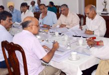 Governor, Satya Pal Malik chairing a meeting of Board of Directors of JKSPDC in Jammu.