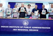 Pensioners' Journal being released on the occasion of 24th AGM of CGPWA on Monday.
