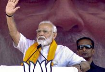 Prime Minister Narendra Modi speaking at a rally in Buniadpur on Saturday.