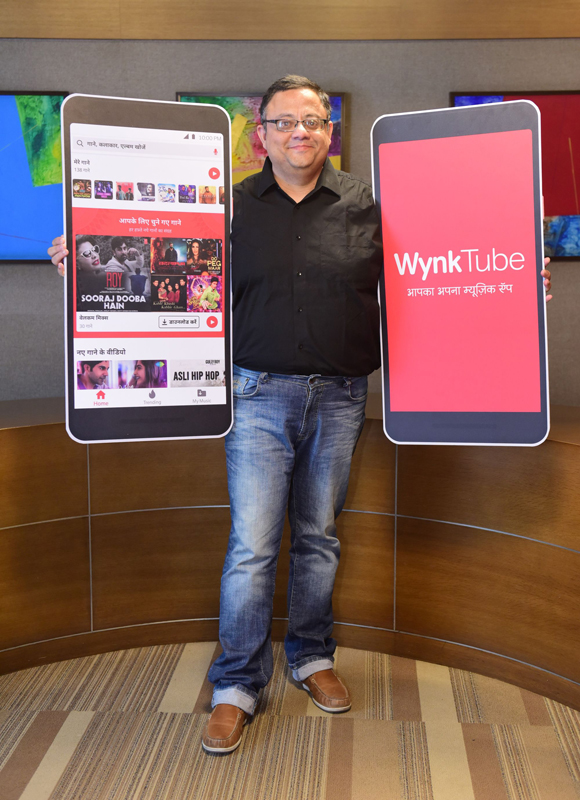 Sameer Batra, CEO, Content and Apps, Bharti Airtel launching 'Wynk Tube'.